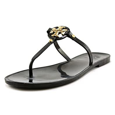 4259abf42bc0fb Tory Burch Mini Miller Flat Thong Sandals in Black Size 5
