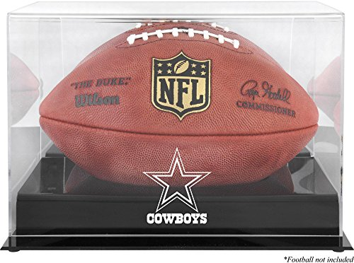 Dallas Cowboys Team Logo Football Display Case | Details: Black Base, Mirror Back ()