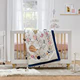 Lolli Living 4-Piece Baby Bedding Crib Set with Stella Pattern. Complete Set with Quilt, 2 Fitted Sheets, and Bed Skirt.