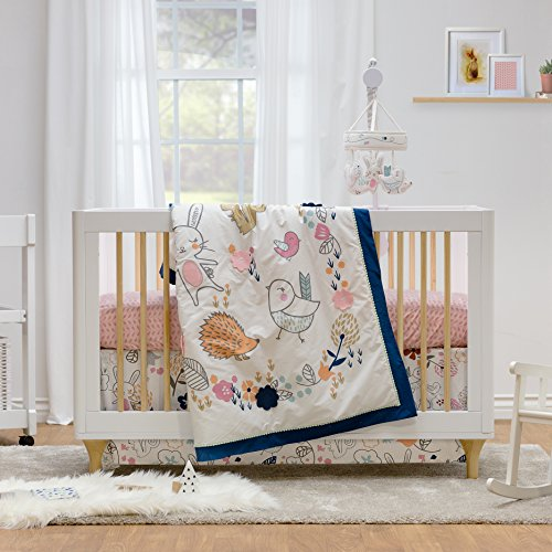Set Pattern Baby (Lolli Living 4-Piece Baby Bedding Crib Set with Stella Pattern. Complete Set with Quilt, 2 Fitted Sheets, and Bed Skirt.)