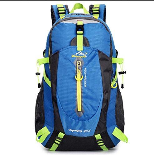 BUSL Al aire libre del alpinismo viajes de placer nylon impermeable unisex hombros mochila . green Blue