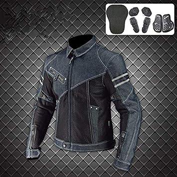 YLWSDDD Verano Nuevo Leisure Jk-006 Cowboy Malla Motocicleta ...