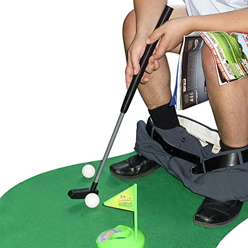Potty Putter Toilet Golf Game Set Golf Trainer Funny Novelty Toy
