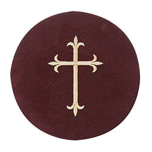 Christian Brands Church Supply SB116EF Brass Offering Plate - Cross Pad by Christian Brands Church Supply