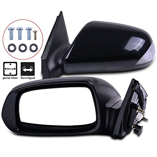 (Towing Mirrors ECCPP High Performance Set Mirrors A Pair of Replacement Mirrors with Coupe Power Adjusted Signal Manual Folding for 2005-2010 Scion tC Base)