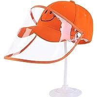 YUTALOW Sombrero Protector para niños Anti-escupir Protector Facial de Seguridad Anti Drool Sombrero a Prueba de Salpicaduras Sombrero de Pescador antiniebla Sombrero para el Sol con extraíble