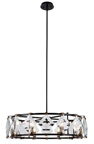Amazon.com: Elegante iluminación 4000d30 Endicott 8 Luz 30 ...