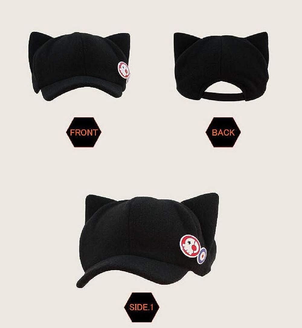Cosplay EVA Neon Genesis Evangelion Soryu Asuka Langley Cat Ear Black Hat
