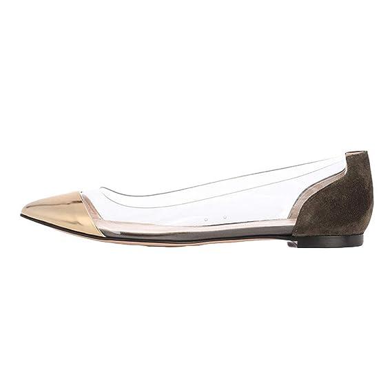 Zapatos de Mujer, ASHOP Casual Planos Loafers Talla Extra Cómodo Puntiagudo Mocasines de Puntera con