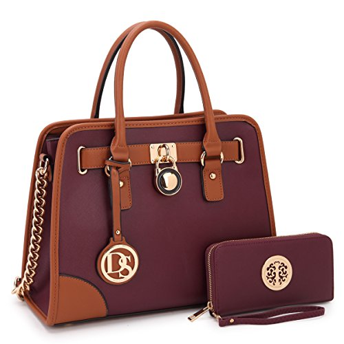 - MMK collection Women Fashion Satchel handbags with wallet Designer Handbag Set(6892W-PP)