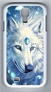 Galaxy S4 Case, Personalized Protective Hard PC White Edge White Fox Case Cover for Samsung Galaxy S4