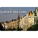 Unlimited Europe Sim Card - 28 days - Unlimited Data - 250+MB/Day@4G speed - 1000 minutes/SMS - 43 countries - UK+Local phone numbers