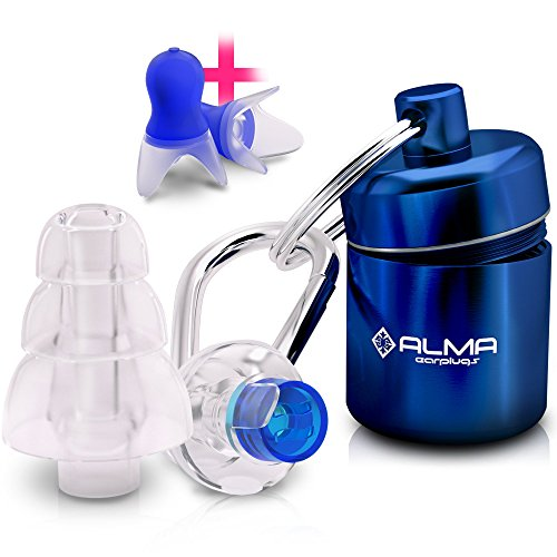 noise cancelling ear plugs - high fidelity professional noise reduction reusable earplugs best for musicians concerts shooting sleeping motorcycles airplane travel industrial works (medium)