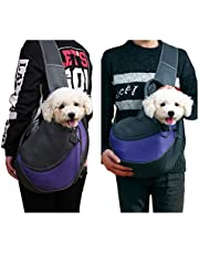 Qchengsan Pet Sling Carrier,Dog Cat Sling Bag Shoulder Carry Bag Dog Pets Travel Carrier Bag Hand Free Pet Travel Shoulder Bags