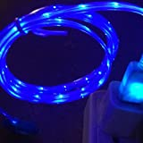ACE Apple LED Charger Light up Charging Cable Luminescent Visible Current Flow Smart Charger & Sync Cable for Apple Iphone 5\5s\5c\6\6 Plus\ipad 3\4\ Mini Air Ios7\8 (Blue)