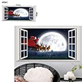 Iuhan Christmas Holiday Window 3D DIY Wall Stickers Xmas Decoration Wall Home Room Decors (A)