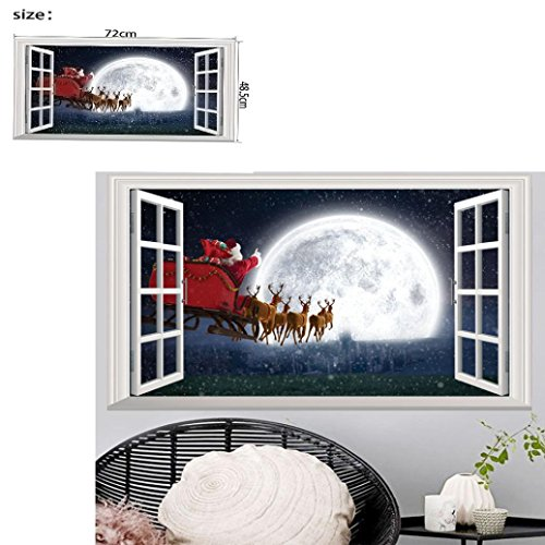 Iuhan Christmas Holiday Window 3D DIY Wall Stickers