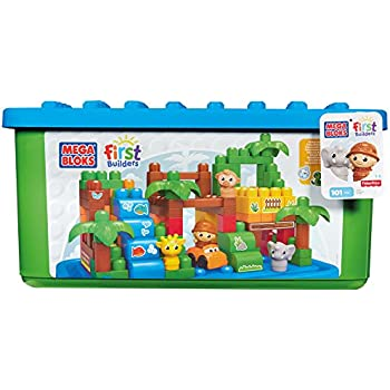 Amazon Com Mega Bloks Safari Large Tubtown Toys Amp Games