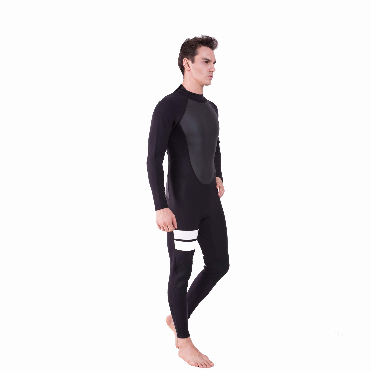 Realon Wetsuit Men Full 2mm Surfing Suit Diving Snorkeling Swimming Jumpsuit (2mm Black, Medium) by Realon (Image #6)