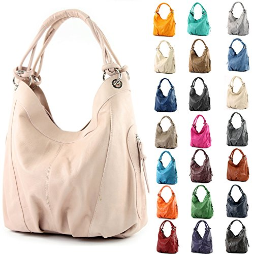 Choice 42x16x30 Women's Bag Dark Gray Italian Z18 Large cm ModaModa Shoulder Leather Nappa Colour nfCvwqTa