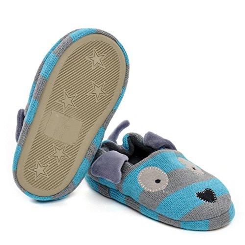 Saingace Enfant Bébé Chaussures Mignon Chiot Dessin Animé Doux Les nourrissons lit d'enfant Chaussures (5.7inch/1-2ans)
