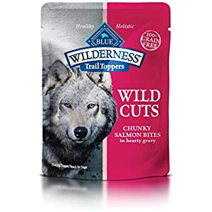 Blue Buffalo Wilderness Trail Toppers Wild Cuts High Protein Grain Free, Natural Wet Dog Food, Chunky Salmon Bites In Hearty Gravy 3-Oz Pouch (Pack Of 24) 118