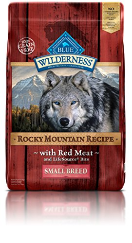 Blue Buffalo Wilderness Rocky Mountain Recipe High Protein Grain Free, Natural Adult Small Breed Dry Dog Food, Red Meat 10-lb