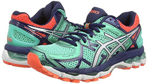 Asics Gel-Kayano 21, Women's Running Shoes Blue (Aqua Mint/Silver/Indigo Blue 7093)