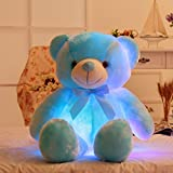 30 Inch Luminous Plush Bow-tie Bear Toys LED Nightlight Lovely Pillow, Glowing Pillow Soft Stuffed Bear Big Gifts Doll by MAXYOYO