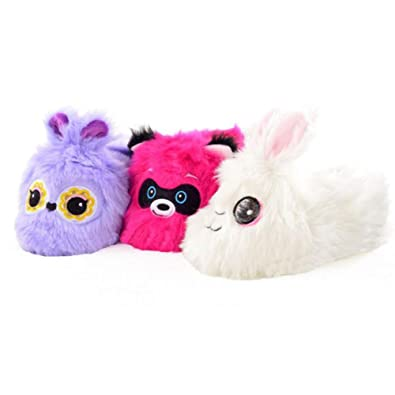 e17215038f3 Children s Girls Owl Bunny Rabbit Badger Bright Novelty Slippers Fun 3D  Plush  Amazon.co.uk  Shoes   Bags