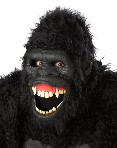 California Costumes Goin Ape Ani-Motion Mask, Black, One (Adult Gorilla Costume)