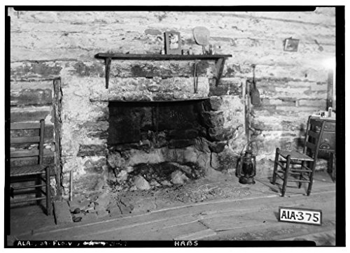 8 x 12 Photo 19. Historic American Buildings Survey Alex Bush, Photographer, March 27, 1935 Fireplace in Slave House - Forks Cypress, Savannah Road (Jackson Road), Florence, Lauderdal 1887 67a by Vintography