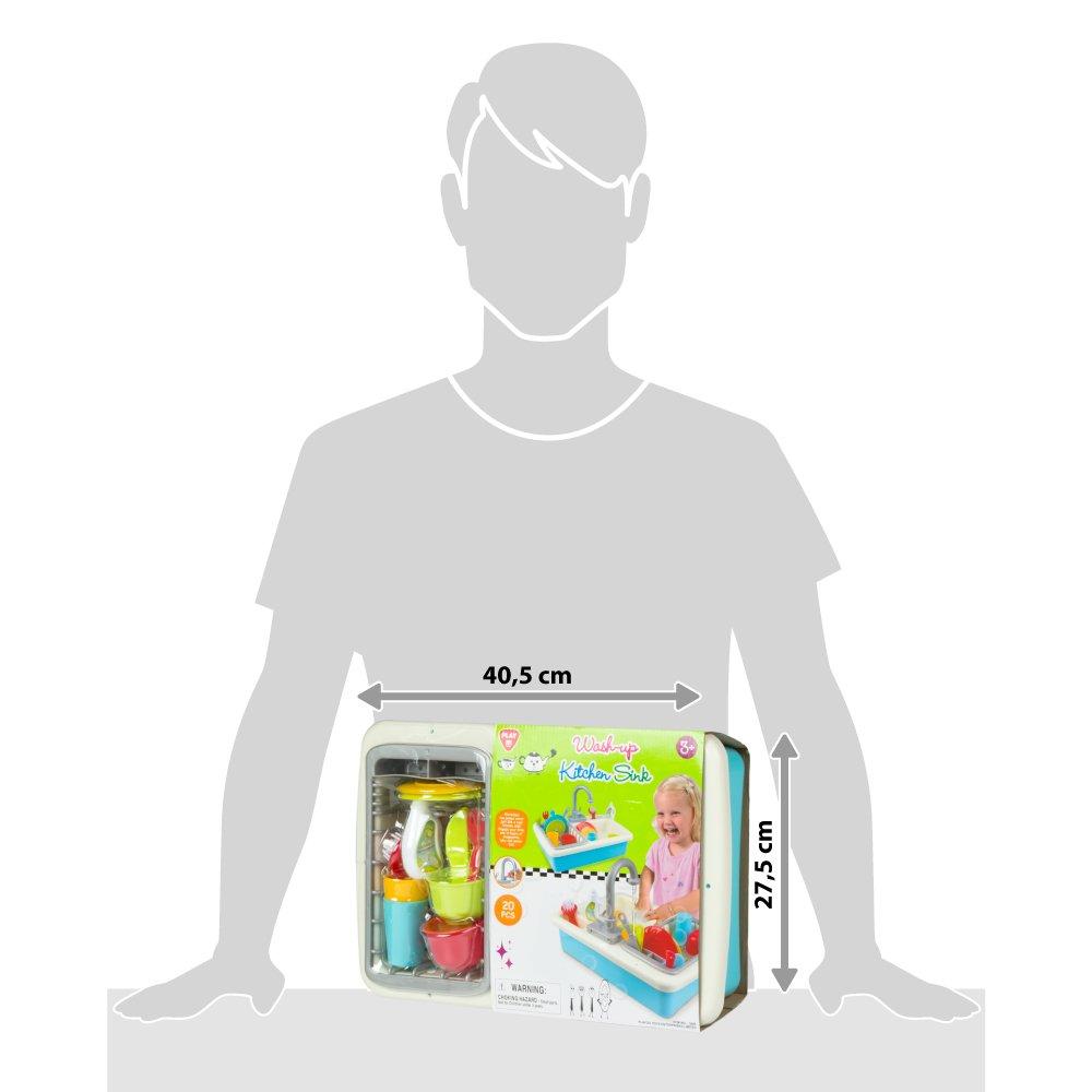 Color Baby 44591 PlayGo lavello con Acqua e 20/Pezzi
