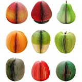 BALUZ Kitchen Sticky Notes Vegetable Fruit Memo Pad Mini Sticky for Kitchen 9 Padss/Set