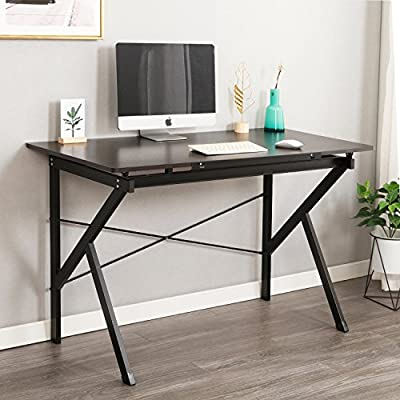 "Soges 47"" Adjustable Computer Desk, Drawing Desk Sketch Art Desk, Adjustable Drafting Table, Writing Desk Home Office Desk, Black SZ011-120-BK -  - writing-desks, living-room-furniture, living-room - 51cYCDZGiNL. SS400  -"