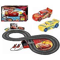 Carrera First Disney Pixar Cars 20063010 Rennbahn für Kinder ab 3 Jahren Lightning McQueen Vs. Dinoco Cruz Ramirez