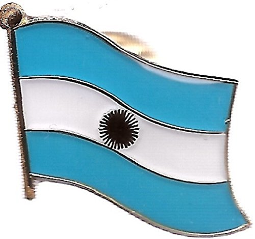 Pack of 50 Argentina Single Flag Lapel Pins, Argentinian Tie & Hat Pin Badges