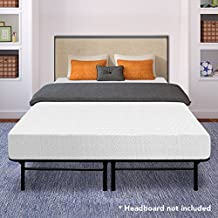 "Best Price Mattress 10"" Memory Foam Mattress and 14"" Premium Steel Bed Frame/Foundation Set, Queen"