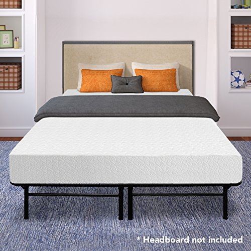 Best Price Mattress 10' Memory Foam Mattress and 14' Premium Steel Bed Frame/Foundation Set, Queen