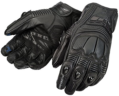 Fieldsheer Mistral Men's Leather On-Road Motorcycle Gloves - Black/Large