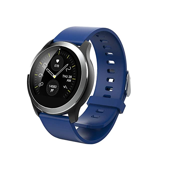 Amazon.com: Smart Watch,Compatible Android 4.4 +, IOS8.2 +,Ip67 Water Proof,Wearble Hardward + Smart App+ Big Data Cloud,Health Tracker,Sports Watch(Blue): ...