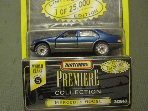 Series 600 Mercedes - Mercedes 600 Sl (Blue/grey) Matchbox Premiere Series 5 #34364-3