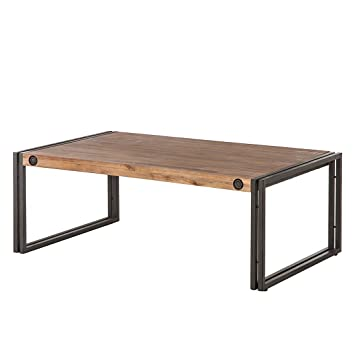 Table Manchester Et Massif Anthracite Home24 Métal Acacia En Basse dsrtQh