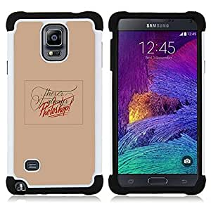 For Samsung Galaxy Note 4 SM-N910 N910 - PHOTO EDITING PEACH FUNNY TEXT RED Dual Layer caso de Shell HUELGA Impacto pata de cabra con im??genes gr??ficas Steam - Funny Shop -