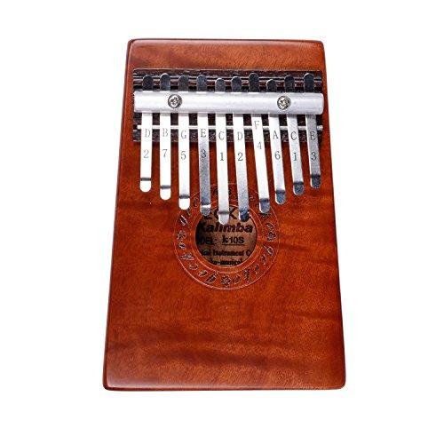 10 Key Kalimba Thumb Piano   Beautiful Mahogany Thumb, used for sale  Delivered anywhere in USA