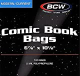 1 Case BCW Current - Modern Comic Book Bags and 1 Case Current - Modern Comic Book Backing Boards