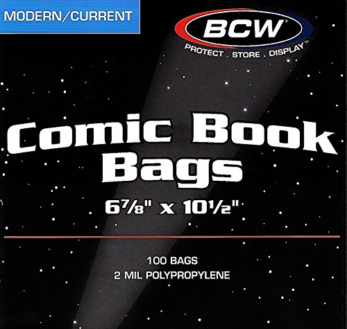 1 Case BCW Current - Modern Comic Book Bags and 1 Case Current - Modern Comic Book Backing Boards by BCW