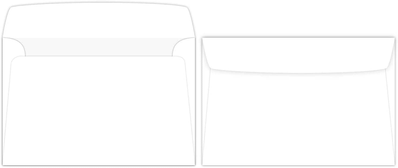 """Booklet Envelopes 6/"""" X 9/"""" White 28//70 Lb 50 Envelopes"""