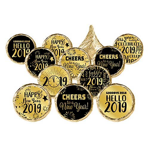 New Year's Eve 2019 Party Favor Stickers -
