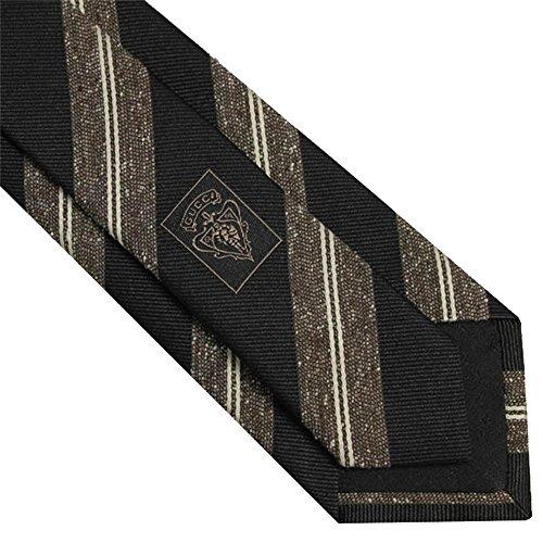 Gucci Woven Silk Men's Necktie 351807, Black/Brown (Gucci Woven Tie)
